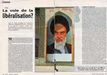 Iran, la voie de la libéralisation, Tendances (Belgique), 14 Février 2002
