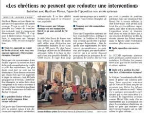 Article paru dans le le Luxemburger Wort, le 30 aout 2013